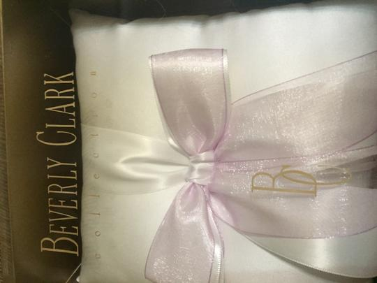 Beverly Clark White / Lilac / 104 B Custom Color Collection By Ring Bearer Pillow