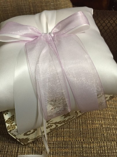 Beverly Clark White / Lilac / 104 B Custom Color Collection Ring Bearer Pillow