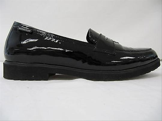 Mephisto Womens Babila Patent Leather Loafers Black Flats