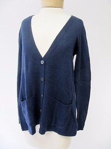 Autumn Cashmere Navy Button Front Cross Back Cardigan Sweater