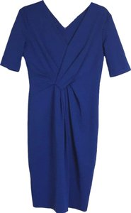 Escada Stretch Jersey Faux Wrap Dress
