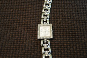 ESQ Small Square Face with Crystal Bezel