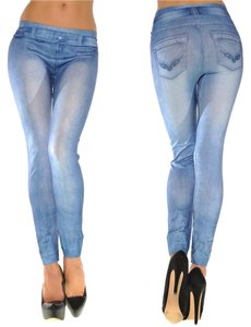 jean blue Leggings