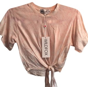 Wildfox T Shirt Pink, White, Blush, Cream, Beige