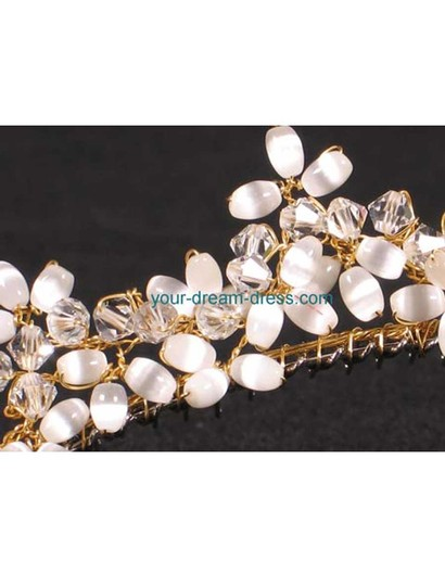 Your Dream Dress R3-4744g Gold Tiara Bridal Headpiece
