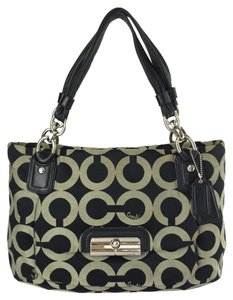 Coach Kristin East West 16813 Tote in Black/ gray