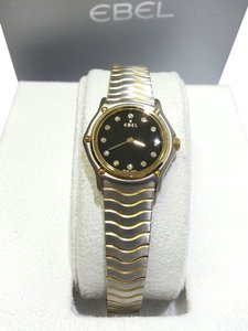 Ebel EBEL Classic Stainless Steel/18 Karat Yellow Gold & Diamonds Mini Wave Ladies Watch