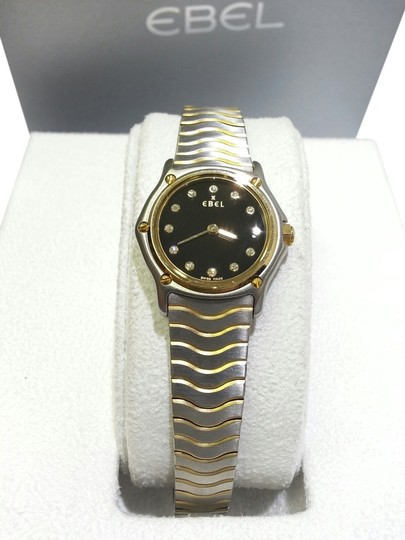 Preload https://item3.tradesy.com/images/ebel-stainless-steel18k-yelloe-gold-classic-steel18-karat-and-diamonds-mini-wave-ladies-watch-6566947-0-0.jpg?width=440&height=440