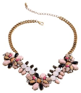 Other Pink Neutral Stone Statement Necklace