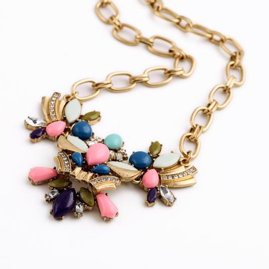 Other Multicolor Stone Statement Necklace