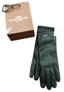 Coach Black leather gloves with cashmere lining