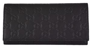 Gucci New Gucci 305282 Women's GG Guccissima Black Leather W/Coin Pocket Wallet Clutch