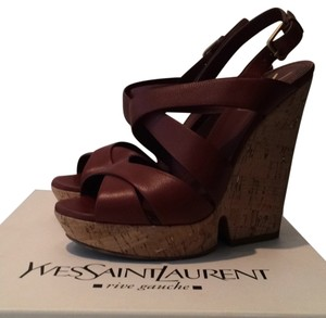 Saint Laurent Brick Brown Wedges