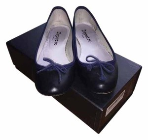 Repetto Leather Ballerina Flat Black Flats