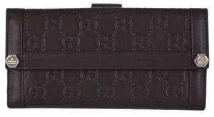 Gucci NEW Gucci Women's 231839 Brown Leather GG Guccissima Continental Wallet Clutch