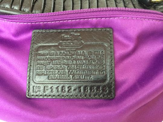 Coach Limited Edition Madison Lindsey Leather 18643 Pleated Convertible Satchel in black