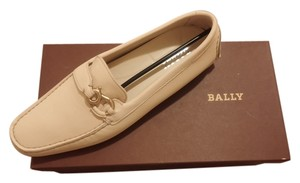 Bally Leather Moccasin Luxury Cream Flats