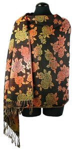 Other Floral Print Fringe Cozy Fall Winter Pashmina Scarf Wrap