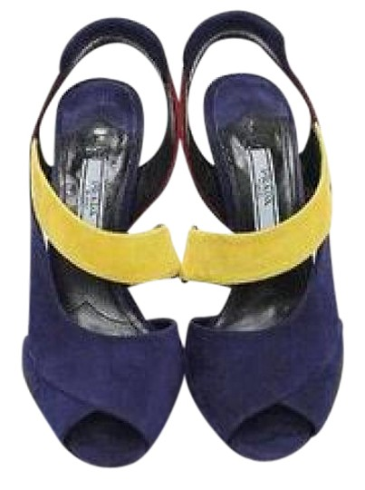 Prada Colorblock Coneheel Color-blocking Fashion Forward Gifts For Her Multi color Sandals