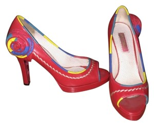 Betsey Johnson Red Platforms