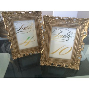 Antique Gold Table Numbers