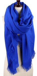 Other Blue Fringed Scarf Wrap