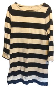 J.Crew short dress White and Black Maritime Nautical Knit Zippers on Tradesy