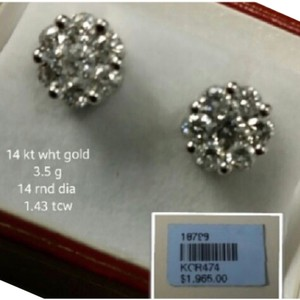 Cluster Diamond Earring - Illusion Set