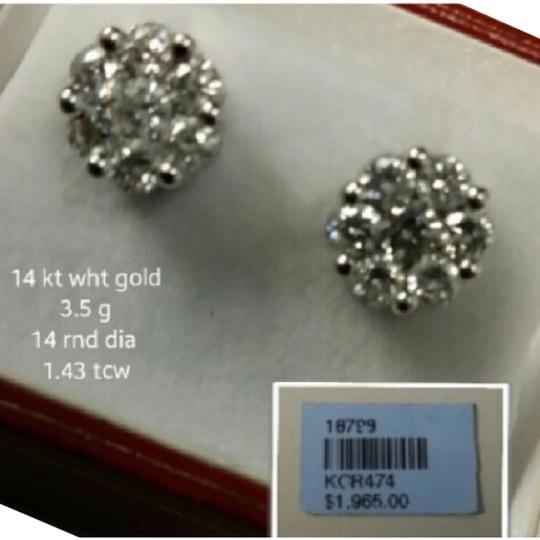 Other Cluster Diamond Earring - Illusion Set