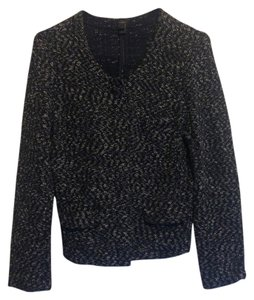 J.Crew Sweater Scoop-neck Navy White Tweed Fitted Navy/White/Tweed Jacket