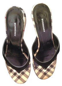 Burberry Black Mules