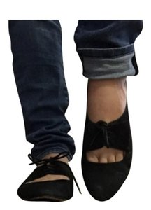 7 For All Mankind Black Flats