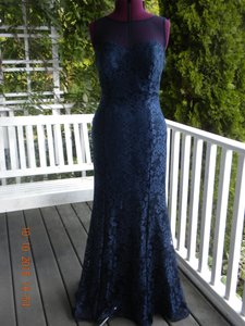 Ignite Evenings By Carol Lin Navy Dress