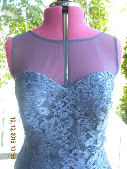 Ignite Evenings by Carol Lin Navy Lace Formal Bridesmaid/Mob Dress Size 12 (L)