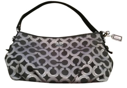 Preload https://item5.tradesy.com/images/coach-large-and-gray-with-shimmer-black-shiny-fabric-wristlet-6571894-0-1.jpg?width=440&height=440