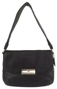 Coach Kristin Leather Clasp Closure Shoulder Bag