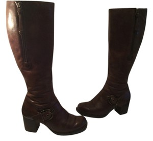 Paul Green Warm Fur Lining Brown leather knee Boots