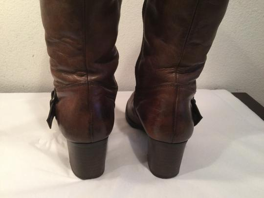 Paul Green Warm Fur Lining British Size 3.5 Brown leather knee Boots