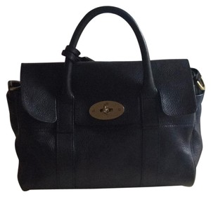 Mulberry Natural Leather Satchel in black