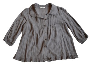 Millau Peter Pan Collar Pleated Top Gray
