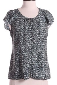 Banana Republic Top Black/Gray/Blue