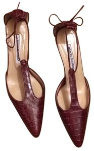 Manolo Blahnik Crimson Pumps