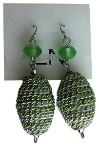 Other Beautiful frosted green drop earrings