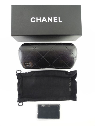 Chanel New Chanel 5219 c. 1311/3C Layered Gray White Full-Frame Acetate Sunglasses 57mm Made in Italy