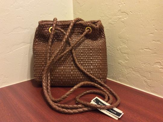 Morgan Taylor Woven Leather Shoulder Bag