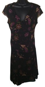 Nine & Co. short dress Black Floral on Tradesy