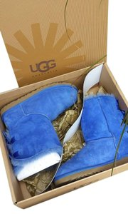 UGG Australia Exotic Bailey Bow Blue Boots