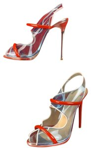 Christian Louboutin Blue, Red, White Pumps