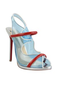 Christian Louboutin Blue, Red, Silver Pumps