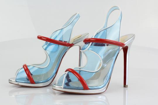 Christian Louboutin Louboutin Louboutin Heels Blue, Red, Silver Pumps